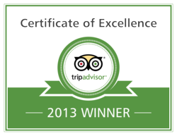 2013 TripAdvisor Certificate of Excellence