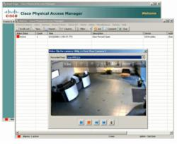 Screen shot of Cisco's physical access manager