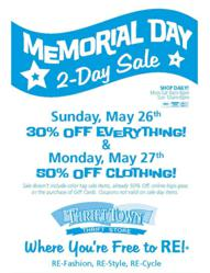 Memorial Day Sale at Thrift Town