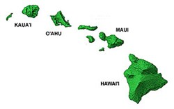 Map of the Hawaiian Islands for Cruise
