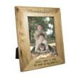 personalised gifts oak grandchildren photoframe