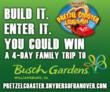 Still time to enter the Snyder's of Hanover and Busch Gardens Williamsburg Pretzel Coaster Build-Off!  Deadline is June 9, 2013, for a chance to win a 4-day family trip to compete in the finals.