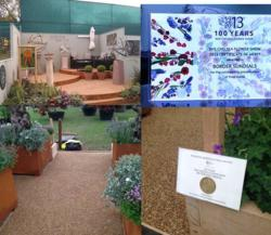 Permeable paving on display at Chelsea Flower Show