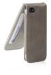 Leather iPhone 5 Flip Case in Charcoal from Pipetto