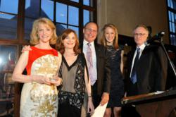 Benefit Honorees with Board President and Executive Director
