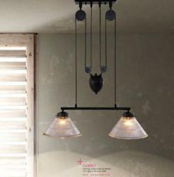 Zuo Modern Garnet Ceiling Lamp Antique Black Gold 98232