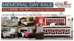 helps customers rest easy with memorial day sale on select broyhill. Black Bedroom Furniture Sets. Home Design Ideas
