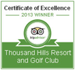 The 2013 TripAdvisor Certificate of Excellence