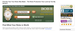 The Bob's Watches Rolex Serial Number look up tool, as praised by CEO Paul Altieri.
