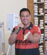 Guy Bucasas, MC for the 2013 BSRA National Championship Belt Sander Races