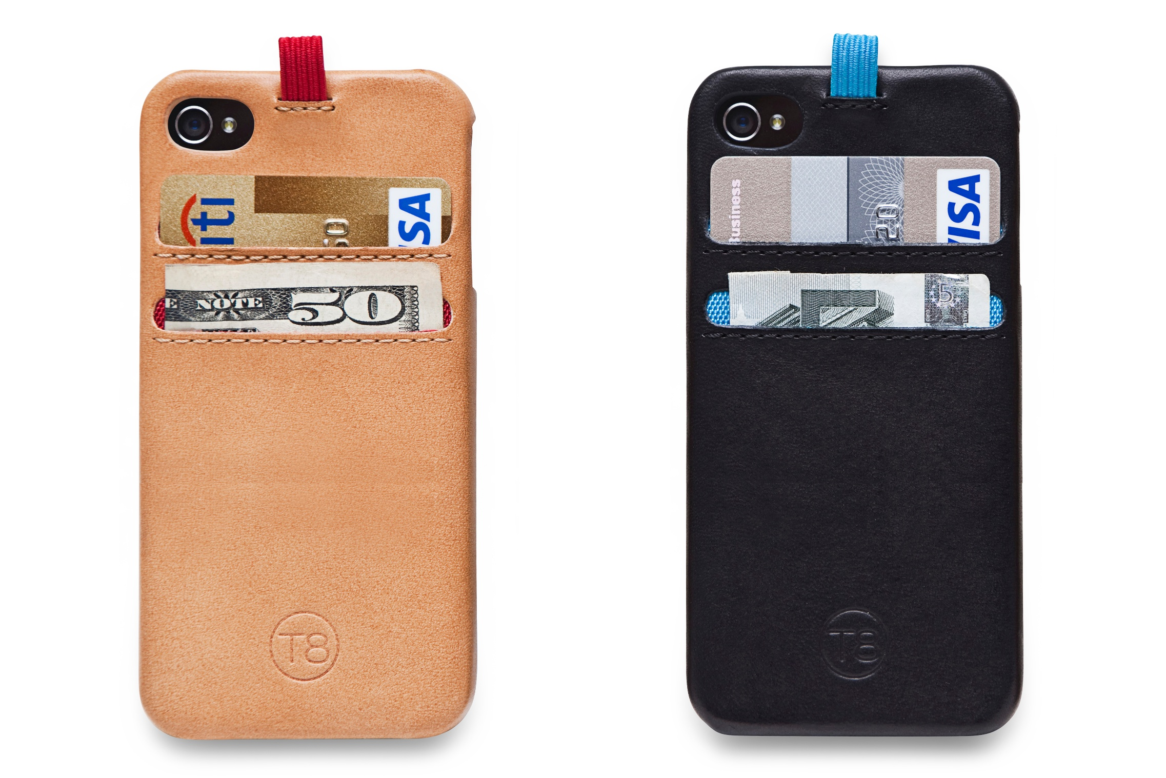 The T8 STORM handcrafted leather iPhone 5 wallet case