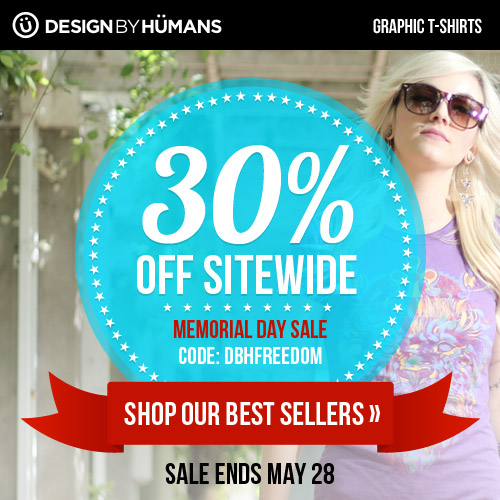 Memorial Day Sale With 30 Off Design By Humans Graphic T