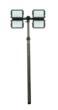 18 Foot Pneumatic Light Mast with Four 150 Watt LED Lamps