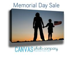 Memorial Day Canvas Print Sale: 25% of Gross Sales Goes to The Consumers Military Charity of Choice Plus Consumers Take 25% Off Entire Order