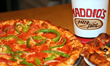 "Maddio Meals at Uncle Maddio's Come with 6"" Pizza and Choice of Side Salad or Bowl of Soup and a Drink."