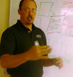 picture of Ross Barefoot teaching SEO