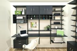 Organized Living New Finishes freedomRail Midnight Live Office