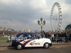 Thai Airways Taxi Advertising