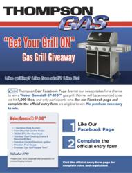 propane gas providers, thompsongas, home propane, propane gas supplier, gas grill giveaway, grill giveaway