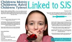 SJS Lawyer Children motrin advil tylenol linked to stevens johnson syndrome infographic