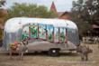 Popular Greetings from Austin Mural on the Airstream Lounge and Bar Austin, Texas