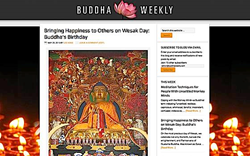 May 25 2013 home page of Buddha Weekly