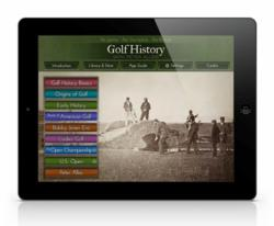 Golf History with Peter Alliss - iPad App Home Screen