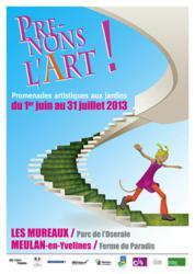 L'affiche de l'édition 2013 Prenons l'Art ! Les Mureaux Meulan en Yvelines