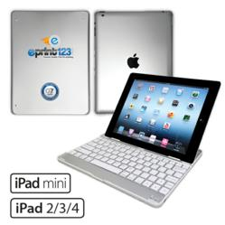 Customizable iPad Ultrathin Aluminum Keyboard Case