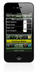 Tennis Score Tracker Match Screen