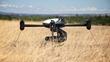 Draganflyer X4-ES Landed in Field