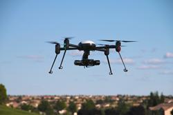 X4-ES Ultra Portable UAV in Flight