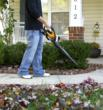WORX 20V MaxLithium Blower/Sweeper quickly clears large walkways, drives and patios.