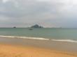 Rainy weather in Ao Nang Beach over green season
