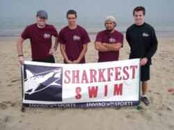 The Great Giant Moving Company crew at last year's Shark Swim in San Francisco
