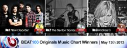 New Disorder, Senton Bombs and Hype! Rock the BEAT100 Original Music Video Chart