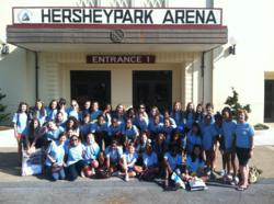 Garrison Forest Middle School Chorus in front of Hershey Park Arena