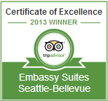 Embassy Suites Seattle Bellevue 2013 TripAdvisor Certificate