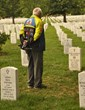 Mike Claver at the Arlington National Cemetery.