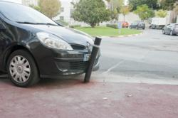 Reliance Foundry's flexible bollards will bend up to 90 degrees when struck by a vehicle and return to form afterwards.