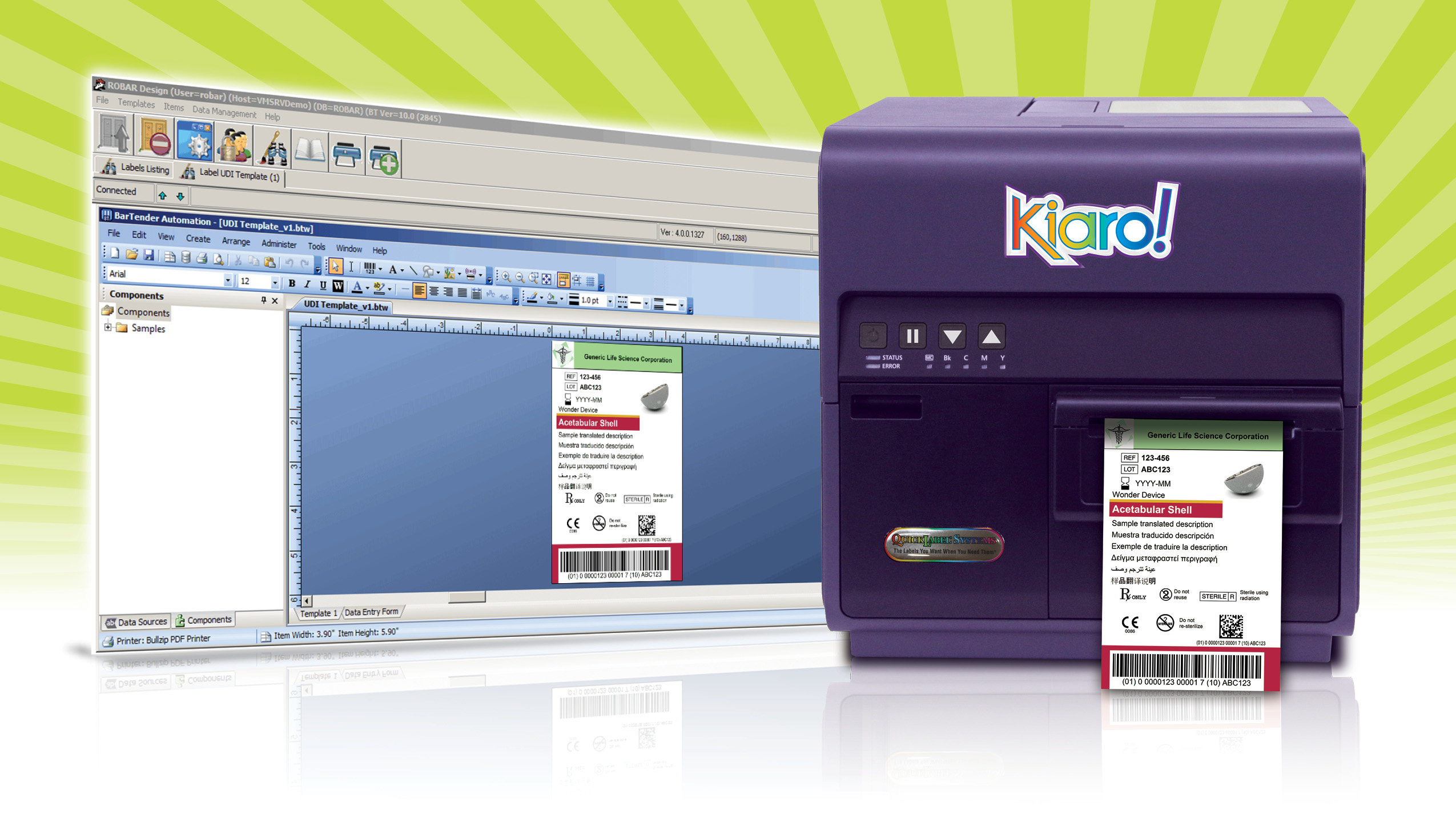 new system to print udi labels in color for pharmaceutical