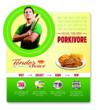 "Point-of-sale materials, such as this mini t-stand, help retailers communicate the ""Porkivore"" promotion from Cargill's Tender Choice pork brand to shoppers."