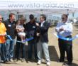 Gilroy Mayor Don Gage, Santa Clara County District 1 Supervisor Mike Wasserman, Dan Arlan of Vista Solar, and Uesugi Farms' General Manager Pete Aiello celebrated the installation of the solar system.