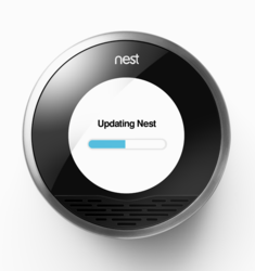 The thermostat is connected to the internet and its programming is updated regularly.