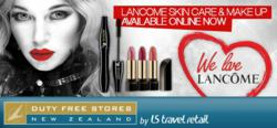 Duty Free Stores Now Offering Lancome Skin Care Products