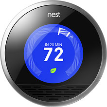 Frost Brothers HVAC installs Nest Thermostats in Denton, TX.