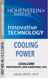 Coolcore Awarded Hohenstein Institute's Innovative Technology Award for Cooling Power