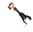 WORX 20V MaxLithium JawSaw cuts  branches up to 4 inches in diameter.