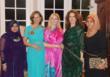 Shuaa Naureen, Barbara Aksamit, Iris McAlpine, Cristal Montañéz Baylor, Hashoo Foundation USA Executive Director, and Ninin  Mandri Martiani at the Culture Shock Charity Show Kick-Off Party