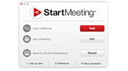 StartMeeting one-click interface